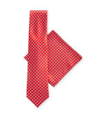 Stefano Ricci Arrow-Print Silk Tie & Pocket Square