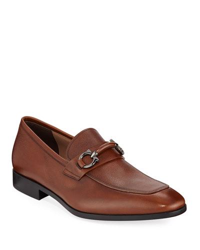 Men's Benford Textured Leather Slip-On Bit Loafers