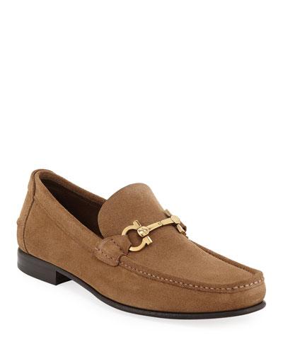 Men's Fiordi Suede Gancini Loafers