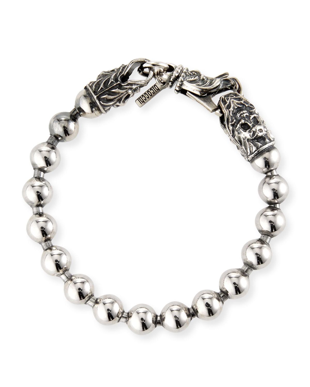 Men's Ball-Chain Sterling Silver Bracelet