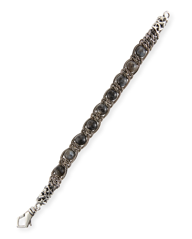 Men's Gray Quartz Chain Bracelet