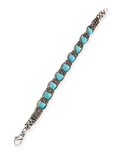 Men's Turquoise Chain Bracelet