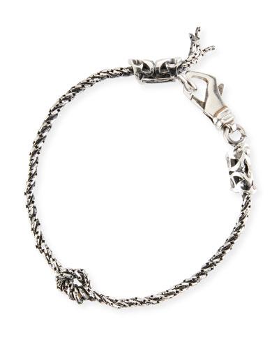 Men's Rope Chain Bracelet w/ Knot