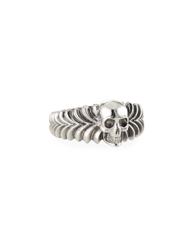 Men's Engraved Skull Ring