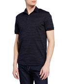 Emporio Armani Men's Horizontal Stripe Polo Shirt