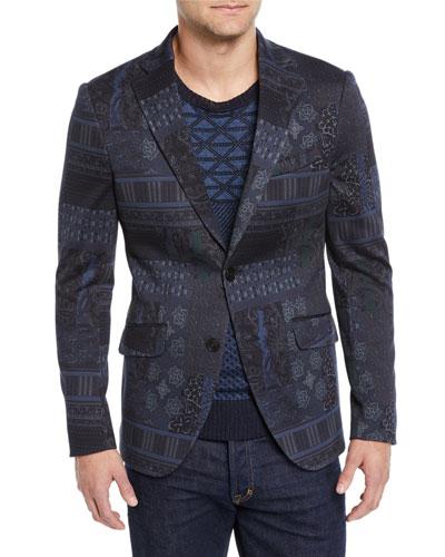 Men's Graphic-Print Sport Coat Jacket