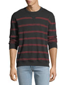 ATM Anthony Thomas Melillo Men's Broken Striped Sweatshirt