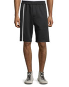 Helmut Lang Men's Striped Track Shorts