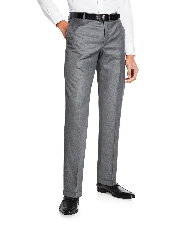 Men's Traveler Solid Dress Trousers