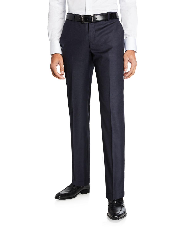 Men's Traveler Wool Dress Trousers