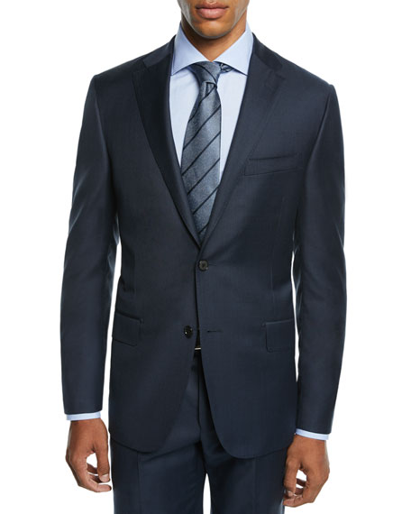 Hickey Freeman Men's Two-Piece Tasmanian Sharkskin Suit