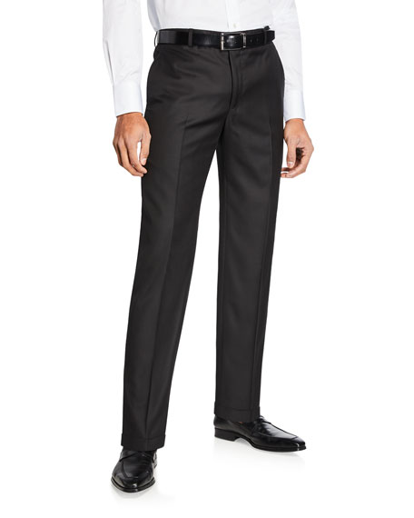 Hickey Freeman Men's Traveler Solid Trousers