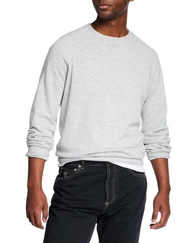 Men's Solomeo Raglan-Sleeve Sweater