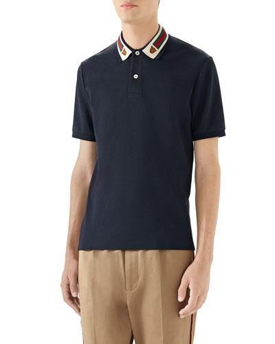 30640da7a Quick Look. Gucci · Men s Pique Polo Shirt ...