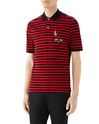 1e6b2f630c6d2c Quick Look. Gucci · Men s Striped Pique Polo Shirt ...