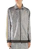 Gucci Men's Interlocking GG Metallic Track Jacket