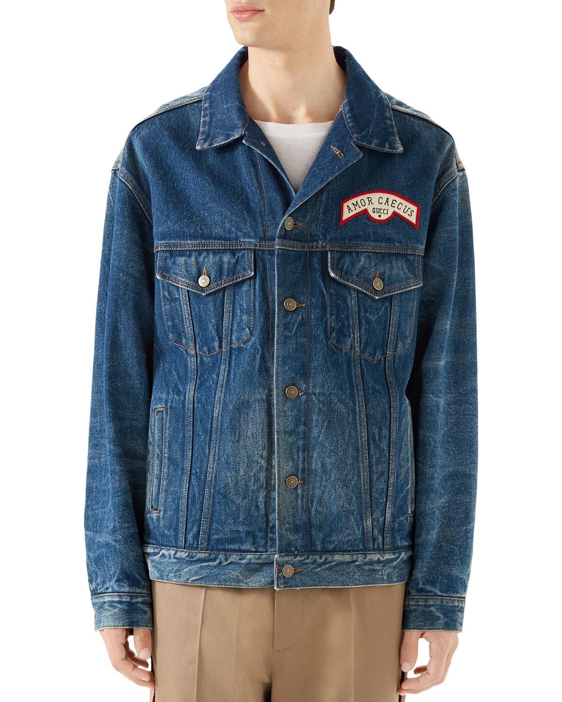 7f284c6b6 gucci denim jackets coats & jackets for men - Buy best men's gucci denim  jackets coats & jackets on Cools.com Shop