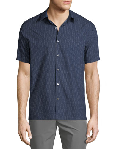 Men's Printed Fil Coupe Irving Sport Shirt