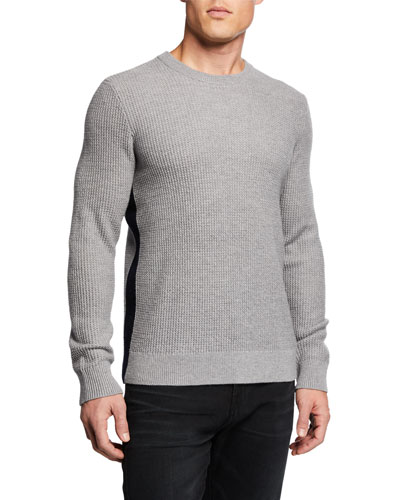 Men's Winlo Wool Waffle-Knit Sweater