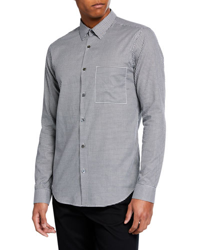 Men's Brushed Gingham Irving Long-Sleeve Sport Shirt