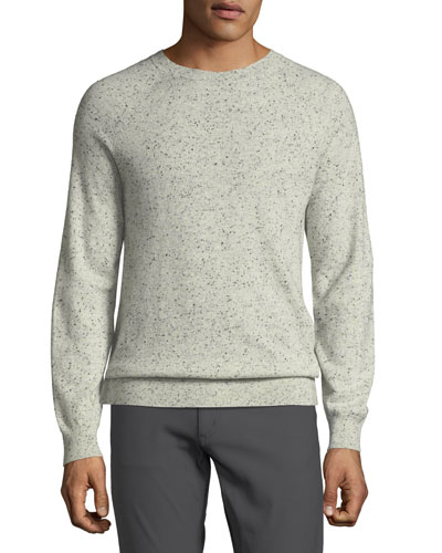 Men's Donegal Cashmere Crewneck Sweater