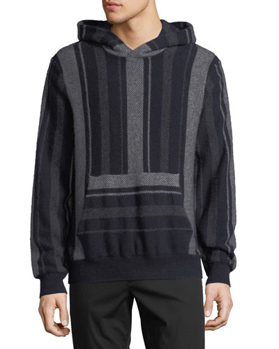 Men's Baja Striped Pullover Hoodie