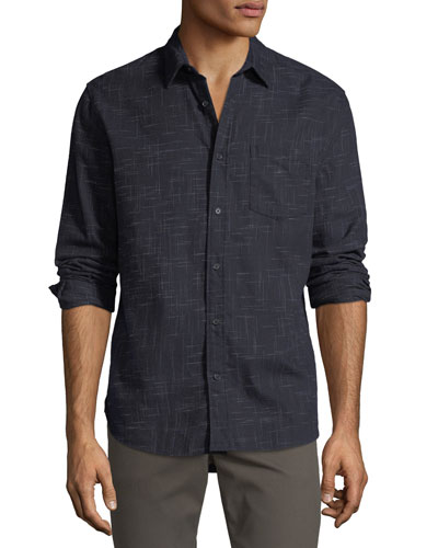 Men's Crosshatch Sport Shirt