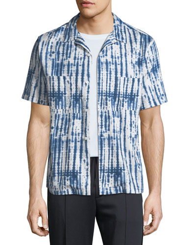 Men's Shibori Printed Cabana Shirt