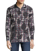 John Varvatos Star USA Men's Over-Dye Sport Shirt