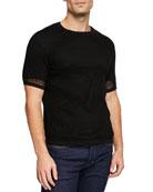 Salvatore Ferragamo Men's Open-Knit Cotton T-Shirt