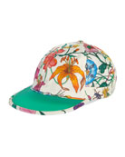 Gucci Men's Flora-Print Silk Baseball Hat