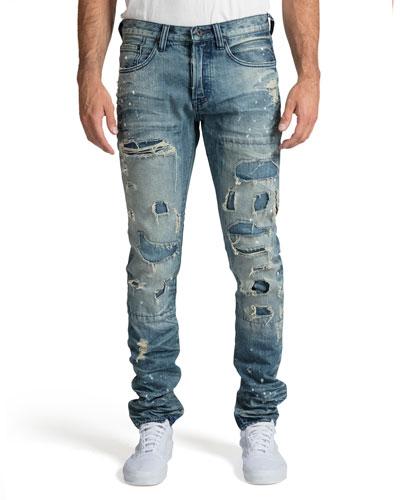 Men's Le Sabre Fit Destroyed Jeans