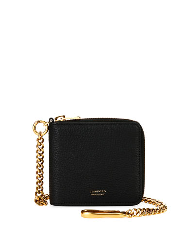 Men's Leather Chain Wallet