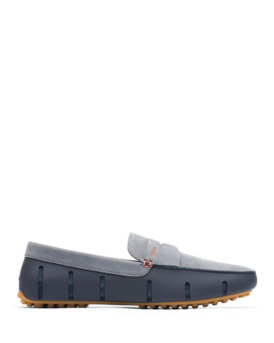 Men's Luxe Nubuck Penny Driver Loafers