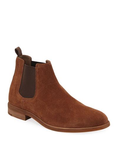 Men's Suede Chelsea Dress Boots