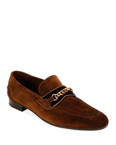 Men's Formal Loafers with Chain