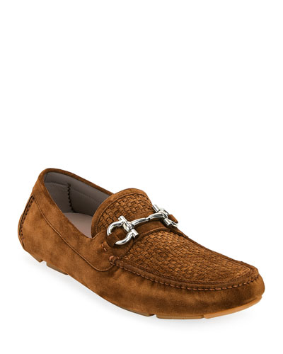 Men's Parigi 16 Woven Suede Driver Loafers