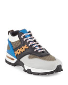 Ermenegildo Zegna Men's Cesare Colorblock Hiker Sneakers