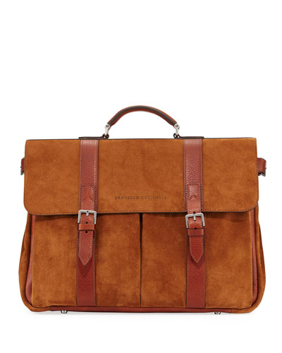 b7898c1ff Leather Zip Pocket Briefcase | Neiman Marcus