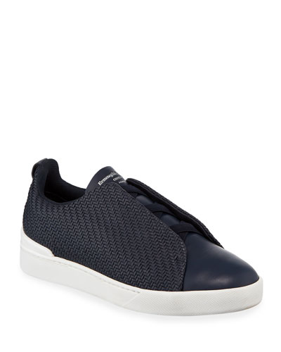 Men's Triple Stitch Pelle Low-Top Sneakers