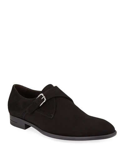 Men's New Flex Suede Monk-Strap Shoes