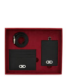 Salvatore Ferragamo Men's Revival Gift Set in Leather
