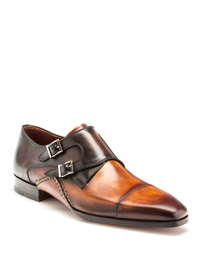 d632e83174ec Quick Look. Magnanni · Men s Ondara Double-Monk Two-Tone Leather Shoes