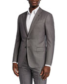 Giorgio Armani Men's Micro-Birdseye Super 180s Wool Two-Piece