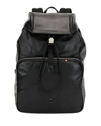 3b87d861f82 Quick Look. Bally · Men s Leather Flap-Top Backpack. Available in Black