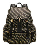 Bally Men's Logo-Print Leather Backpack