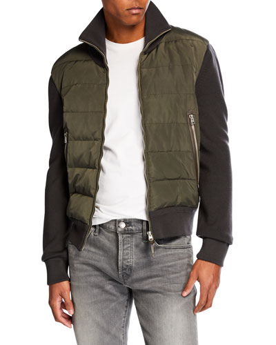Men's Gauge Front Blouson Jacket