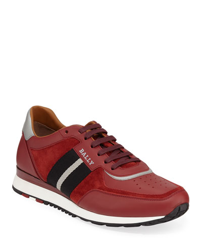 Men's Aston Leather Sneakers w/ Trainspotting Stripe