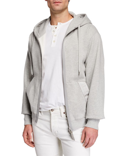 Men's Garment Dyed Hoodie Sweatshirt, Gray