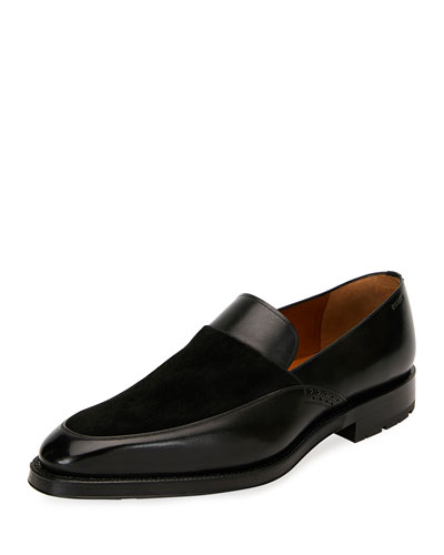Men's Bassy Leather Slip-On Shoes